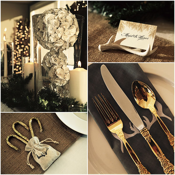 Winter wedding details from Confetti.co.uk