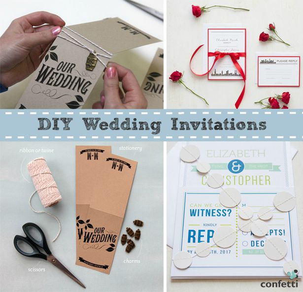 DIY Wedding Invitations | Confetti.co.uk