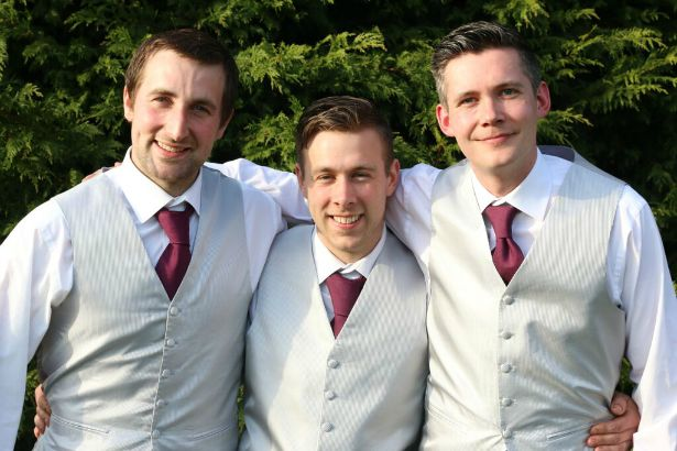 Groomsmen at Jess and Ryan's real wedding | Confetti.co.uk