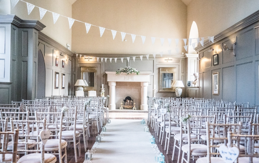 Ceremony room at Ellingham Hall