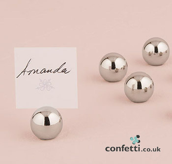 Round metal balls table numbers