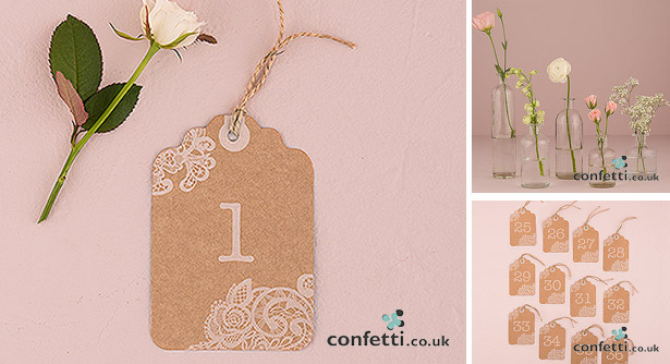 Shabby Chic Table Tag Number
