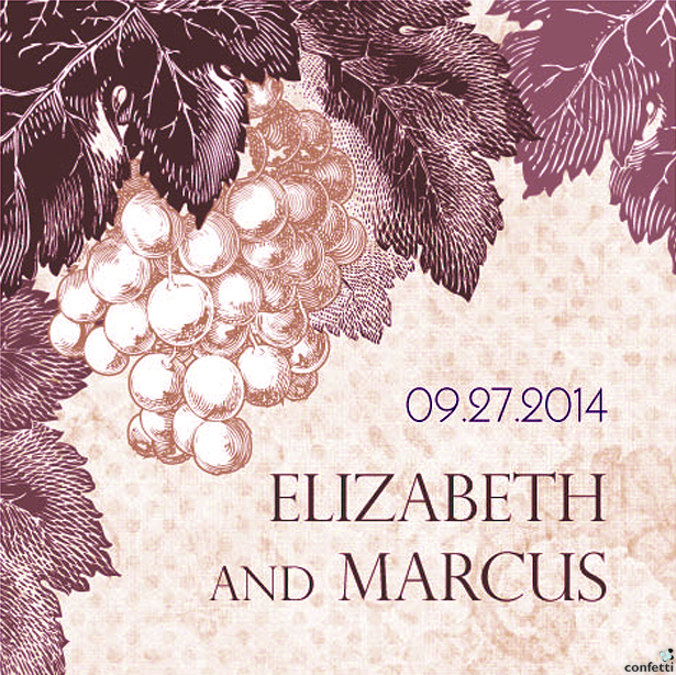 A Wine Romance Vineyard Themed Stationery | Confetti.co.uk