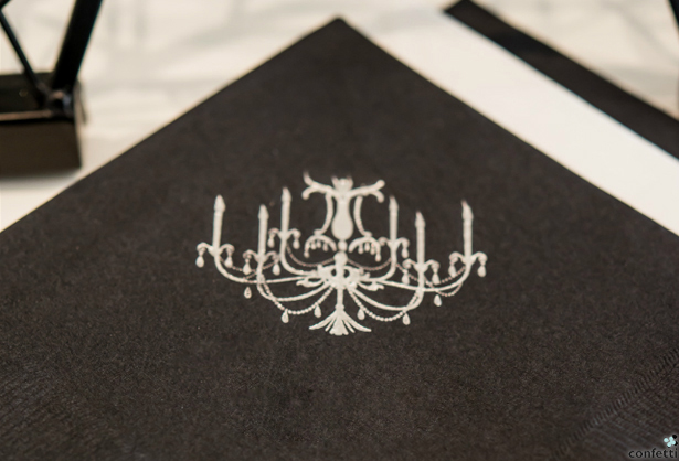 Black and Silver Personalised Paper Napkins | Confetti.co.uk