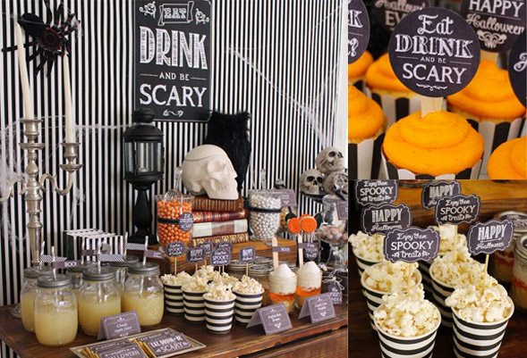 Halloween themed hen party buffet