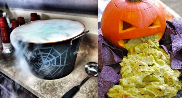Pumpkin Guacamole and Witches Punch