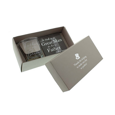 Whiskey Glass and Coaster Gift Set | Confetti.co.uk