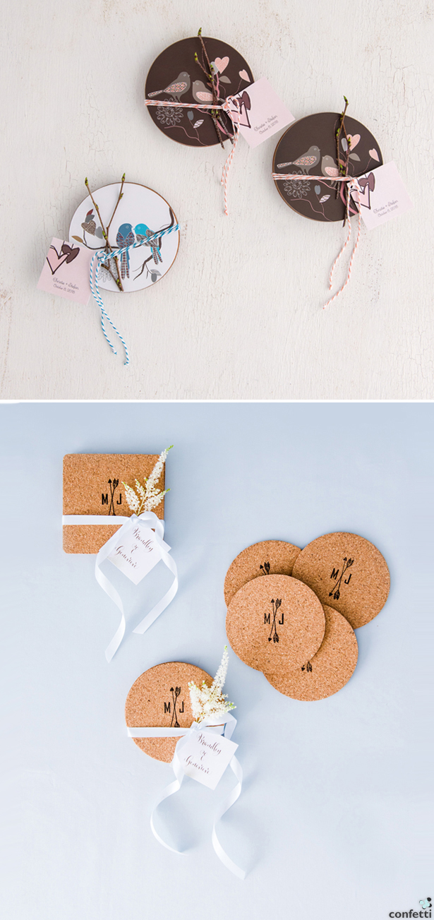 Coaster Favours | Confetti.co.uk