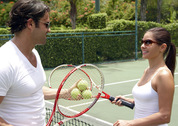Stay limber after your nuptial celebrations with a match or two of tennis   Confetti.co.uk