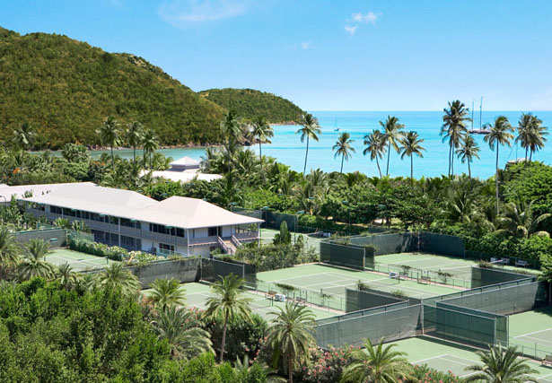 Tennis just a stone's throw from crystalline Caribbean beaches will keep you fit on your honeymoon   Confetti.co.uk