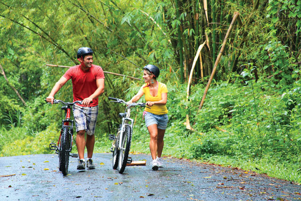 Cycle through lush rain forests in St Lucia on your honeymoon   Confetti.co.uk