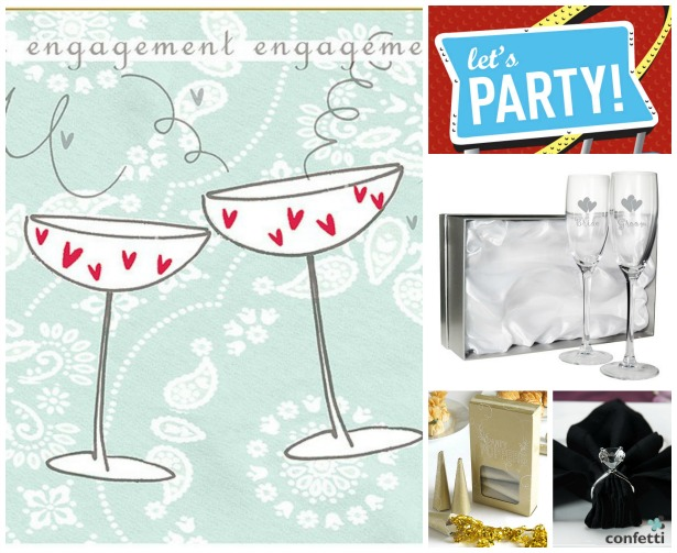 Engagement party accessories by Confetti | Confetti.co.uk