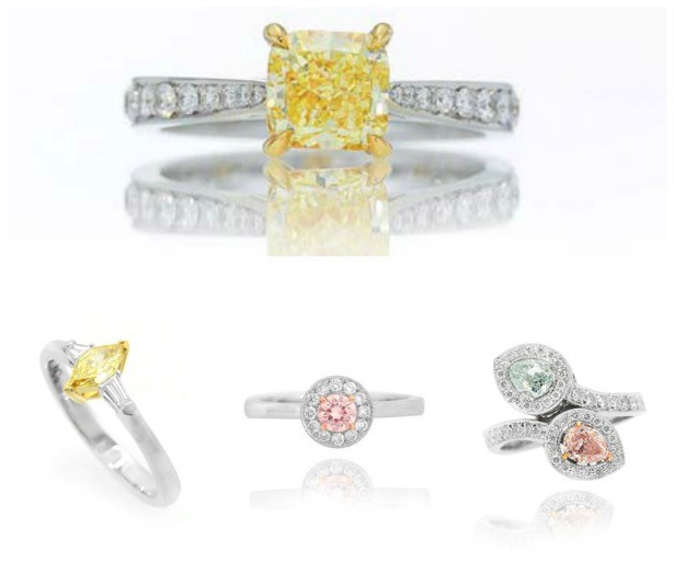 Engagement rings by Natural Fancy Coloured Diamonds | Confetti.co.uk