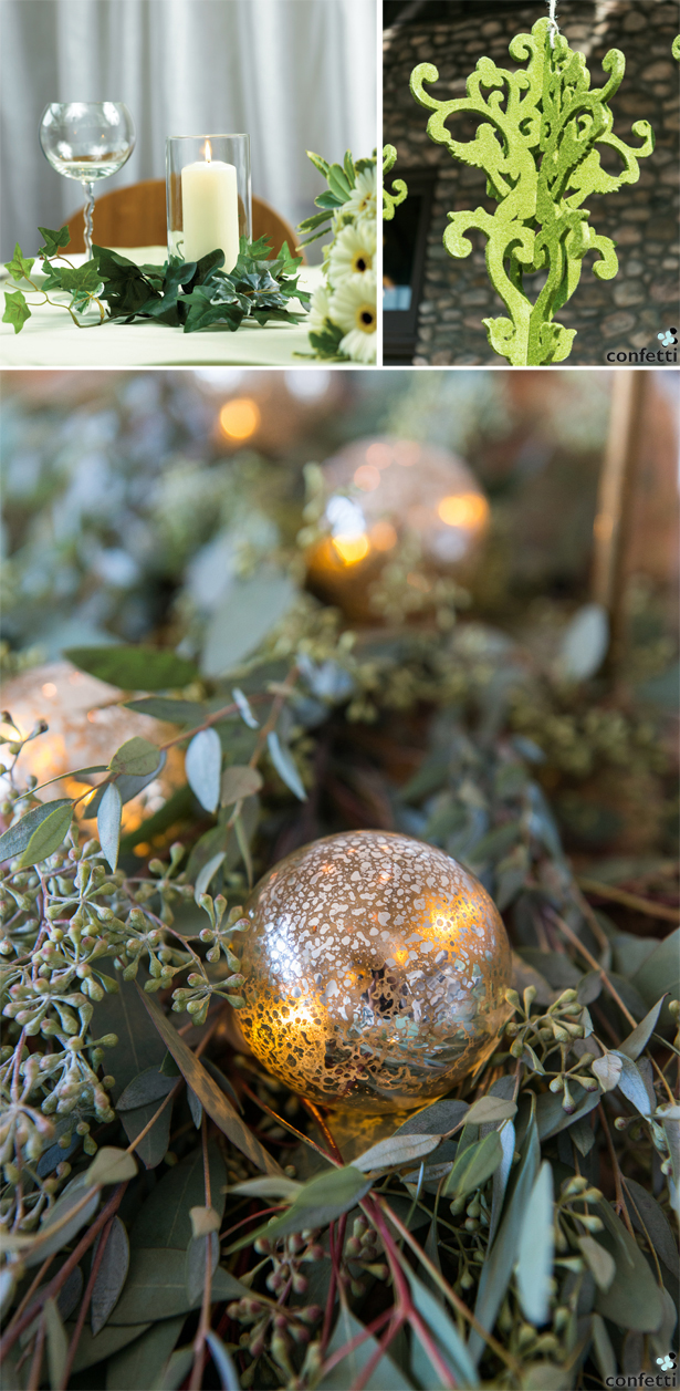 Green and Gold Christmas Wedding | Confetti.co.uk