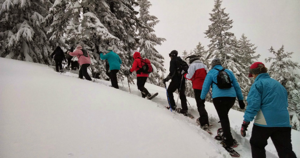 Just a thrilling, this tame mountain honeymoon in the Rockies offers a gentle snowshoe trek up to the peak.   Confetti.co.uk