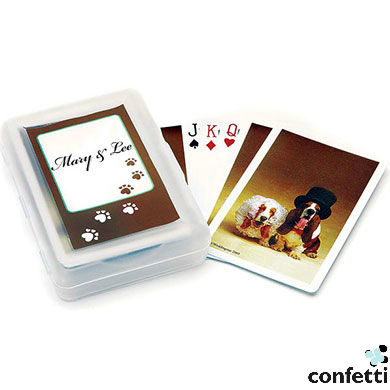 Bride And Groom Hounds Playing Cards from confetti   Confetti.co.uk