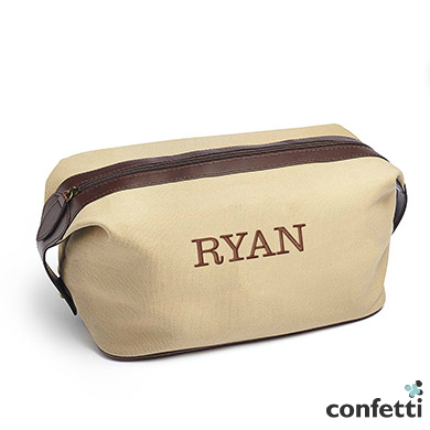 Pack all your toiletries in a rugged canvas dopp kit   Confetti.co.uk