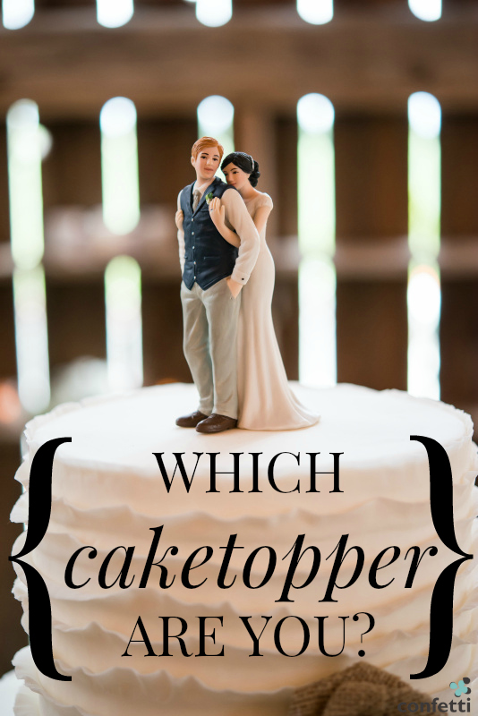 Which cake topper are you? Take our fun personality quiz to find out! | Confetti.co.uk