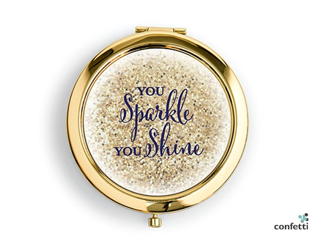 Personalised designer compact mirror | Confetti.co.uk