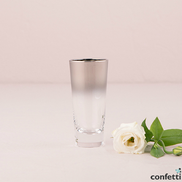 Modern Shot Glass With Silver Ombre Fade | Confetti.co.uk