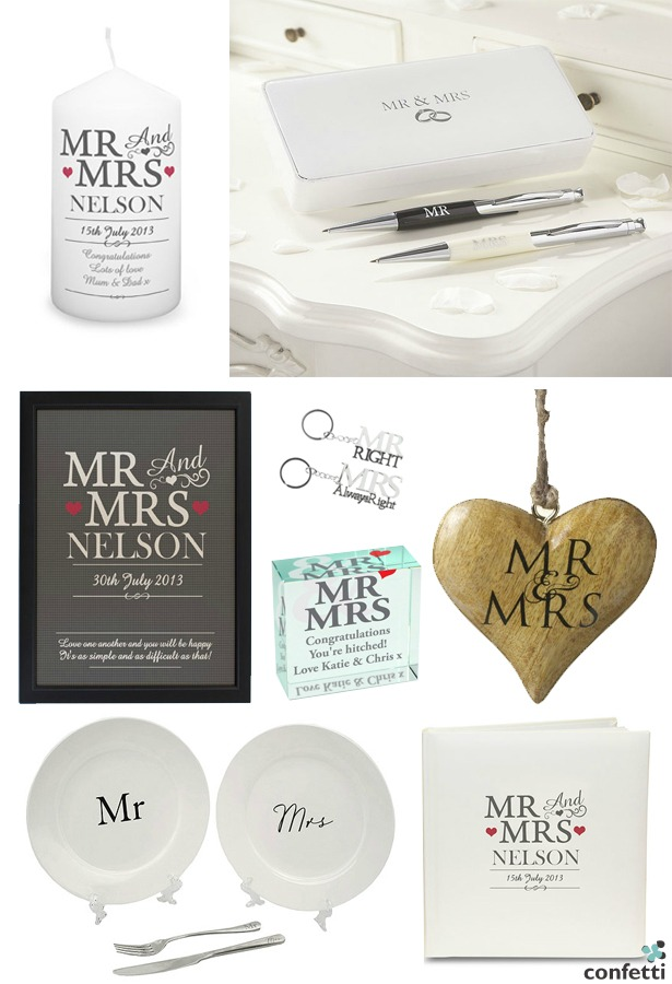 Mr and Mrs Wedding Gifts | Confetti.co.uk