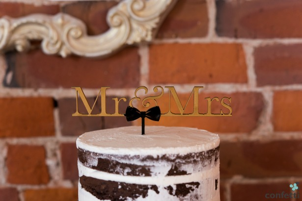 Mr and Mrs Cake Topper | Confetti.co.uk