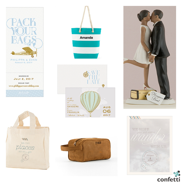All the wedding essentials you'll need for a travel themed wedding or a wedding or honeymoon abroad. | Confetti.co.uk