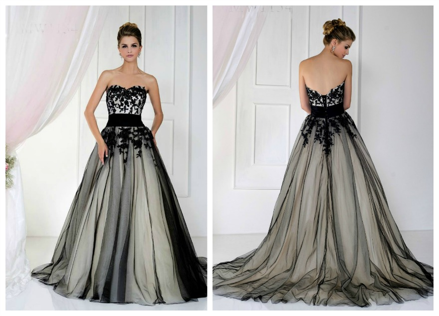 Black and white ballgown by Bellice Bridal at Veromia | Confetti.co.uk