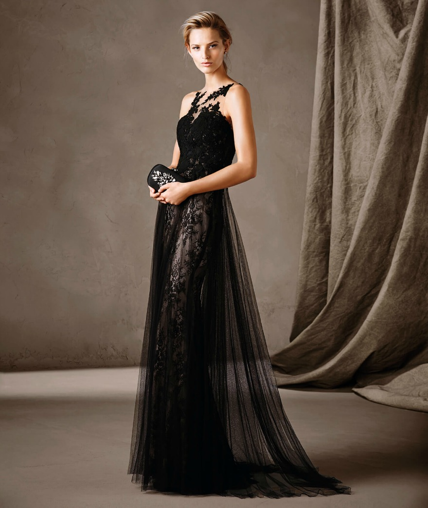 Black illlusion dress Calcuta by Pronovias | Confetti.co.uk