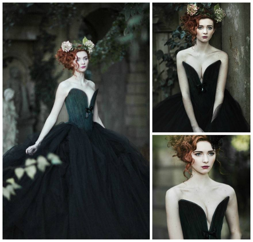 Black ballgown by Chantal Mallett | Confetti.co.uk