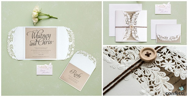 Floral Elegance invitations  | Confetti.co.uk