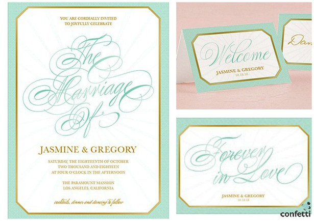 Glitz and glam Invitations | Confetti.co.uk