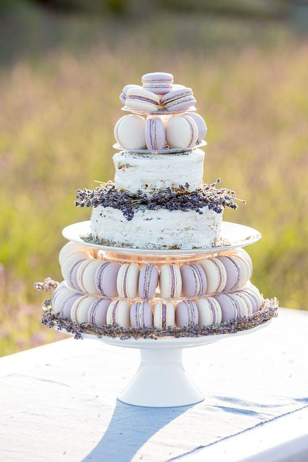 Macaroon Wedding Cake | Confetti.co.uk
