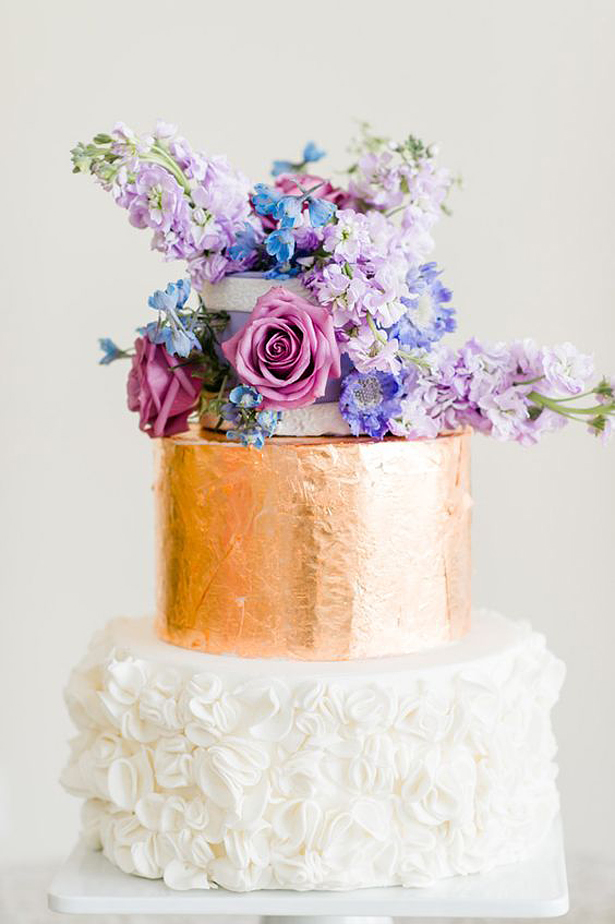 Metallic Wedding Cake | Confetti.co.uk