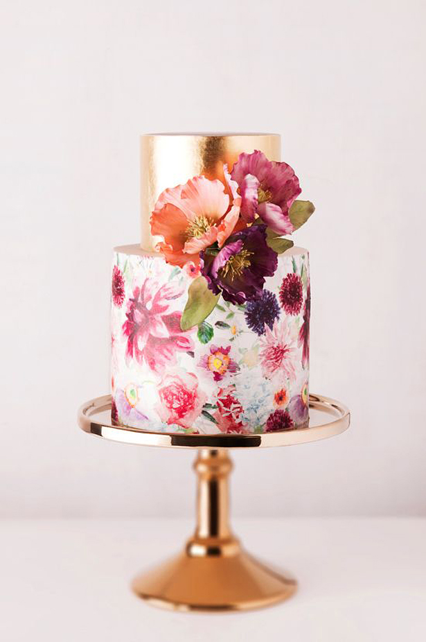 Watercolour Wedding Cake | Confetti.co.uk