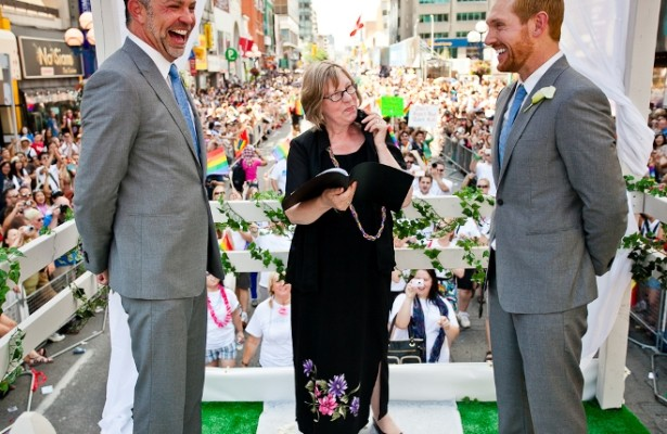 Carter & Breken's amazing Toronto Pride wedding | Confetti.co.uk
