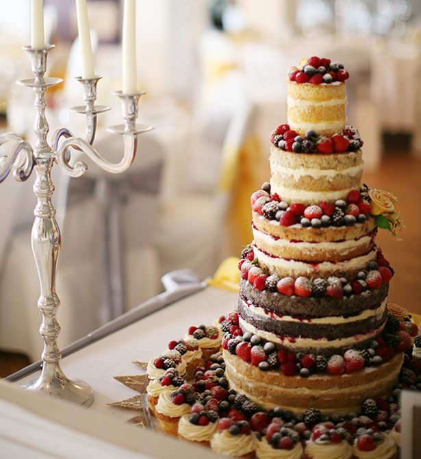 Naked Wedding Cake | Confetti.co.uk
