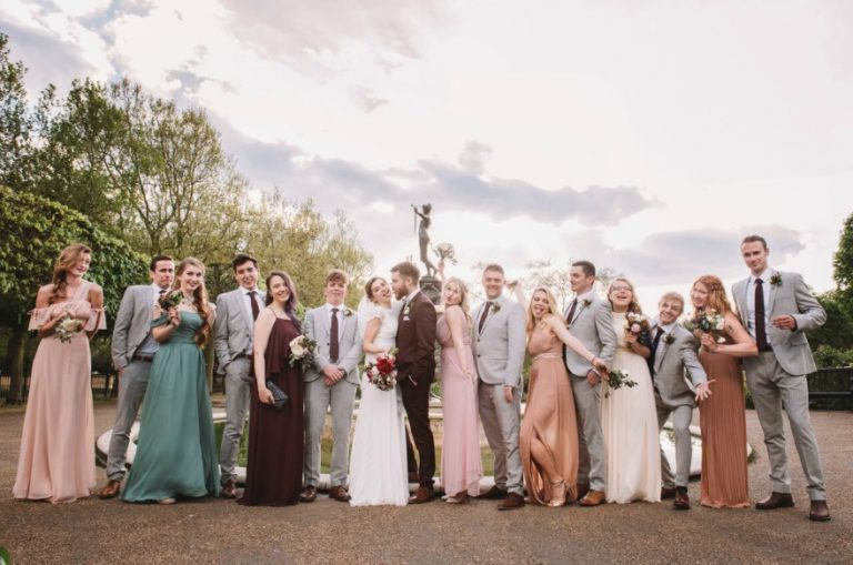 Bridesmaids at Kristina and Max's wedding at Westminster Abbey | Confetti.co.uk