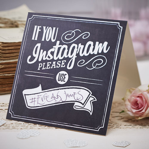Vintage affair hashtag cards | Confetti.co.uk