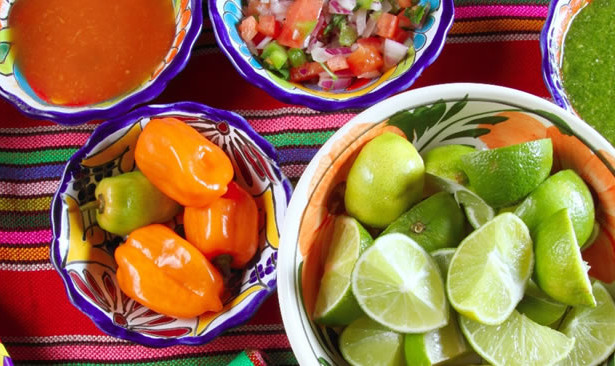 Mexican cookery ingredients