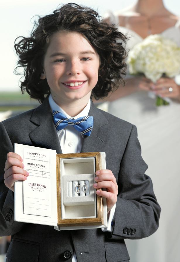 Ring bearer with the rings   Confetti.co.uk
