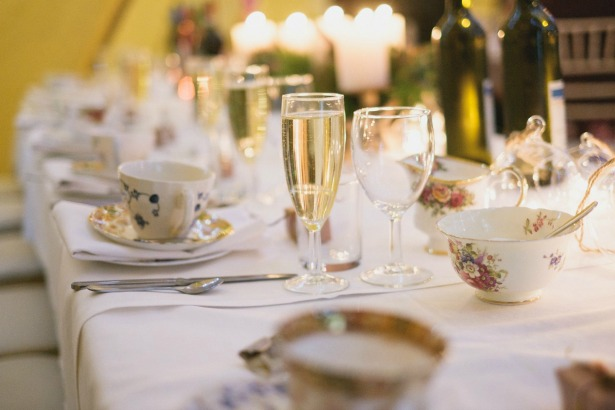 Ciara & Mike's Real Autumn Wedding breakfast table| Confetti.co.uk