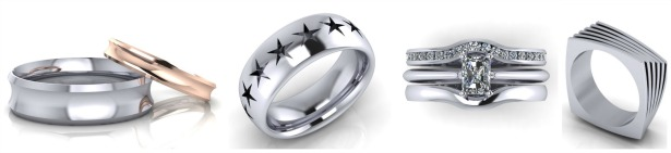 Rings by Jason Charles Jewellery | Confetti.co.uk