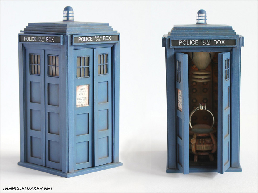 TARDIS Engagement Ring Box from The Model Maker - Doctor Who Wedding Ideas - TARDIS Ring Box | Confetti.co.uk