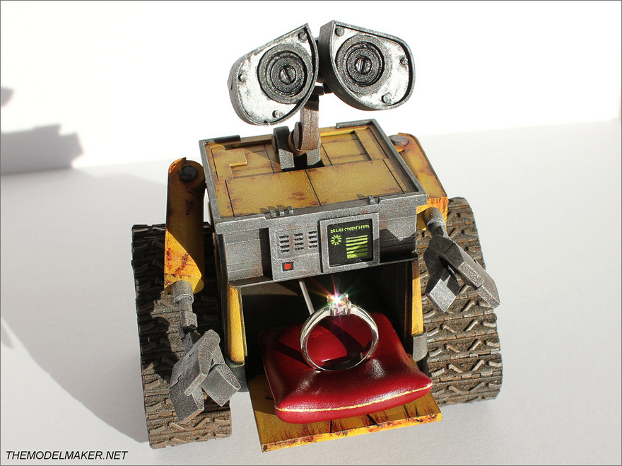 Wall-E Engagement Ring Box from The Model Maker - Wall-E Ring Box | Confetti.co.uk