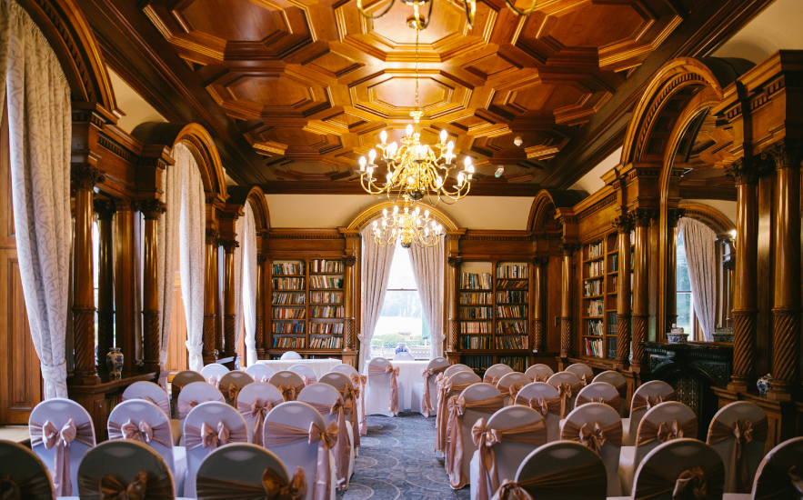 Library at Oakley Hall Hotel