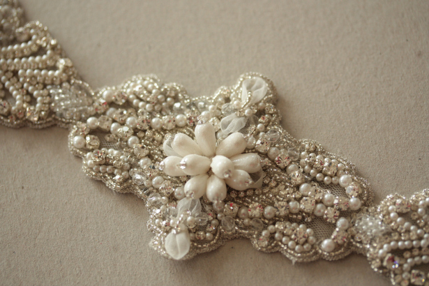 Vintage Wedding Accessories Beaded Wedding Dress Sash | Confetti.co.uk