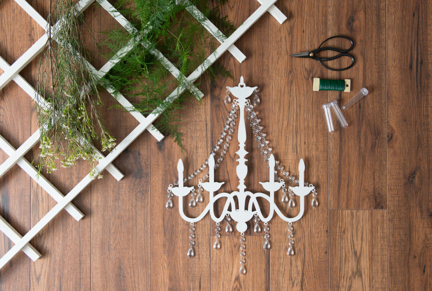 DIY Chandelier and Fern Overhang | Confetti.co.uk