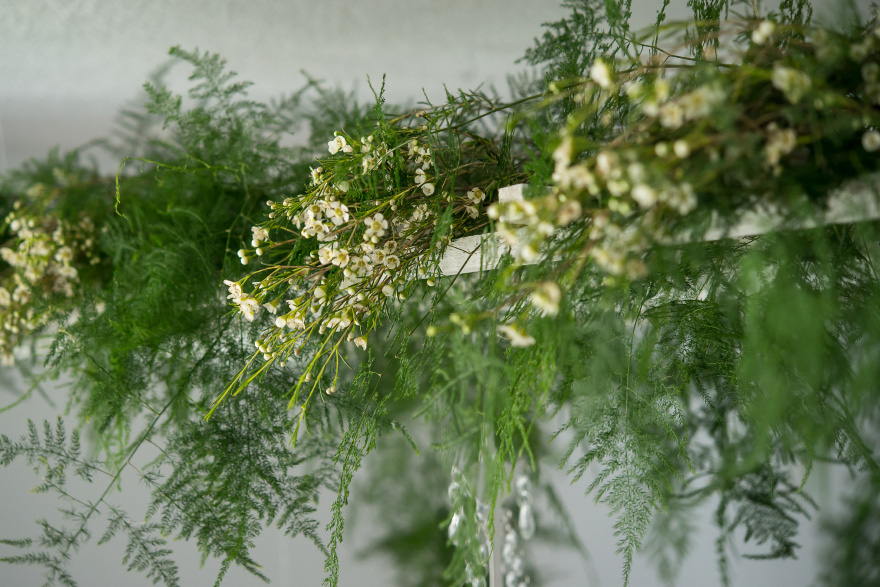 Ferns and Flowers Hanging Wedding Decor | Confetti.co.uk