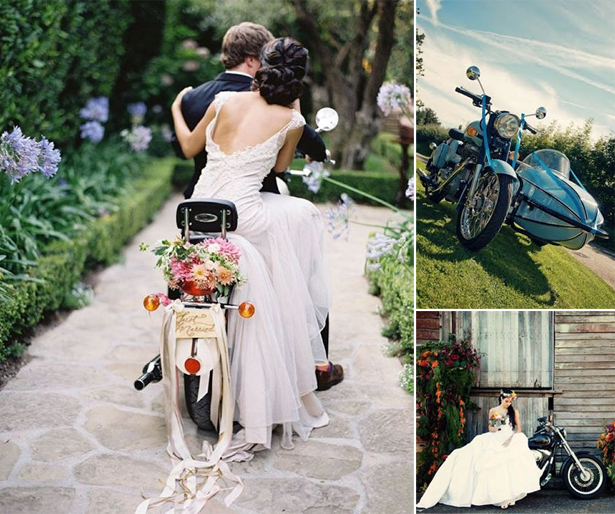 Motorbike Wedding | Confetti.co.uk